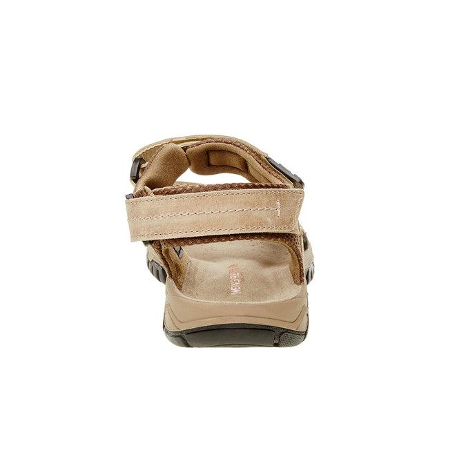 Pánské kožené sandály weinbrenner, hnědá, 866-3107 - 17