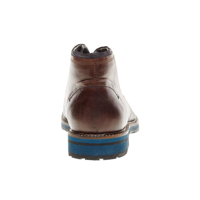 Kožená obuv v Chukka stylu bata, hnědá, 894-4126 - 17