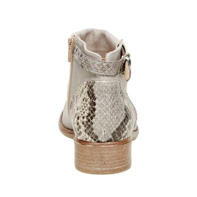 Kožené kotníčkové boty manas, šedá, 596-2109 - 17