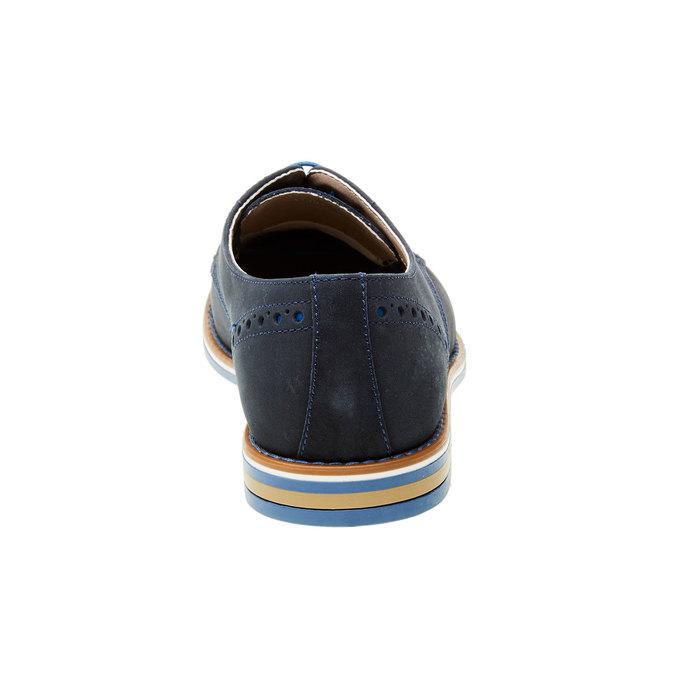 Kožené polobotky s barevnou podešví bata, modrá, 826-9839 - 17