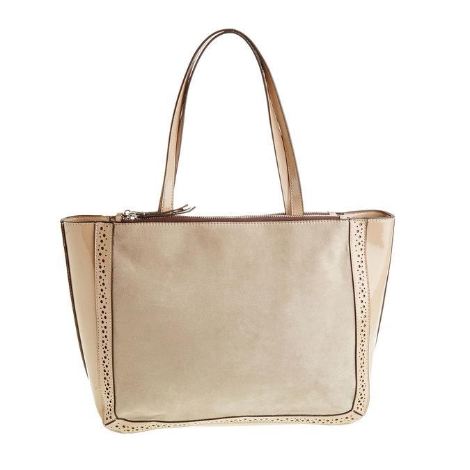 Dámská kabelka s lesklými prvky bata, béžová, 969-8315 - 26