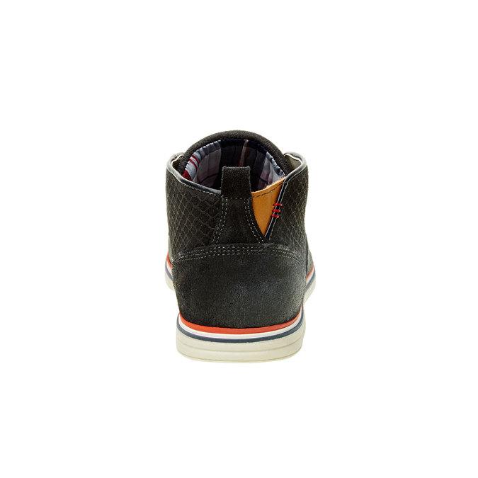 Kotníčkové kožené polobotky bata, černá, 843-9311 - 17