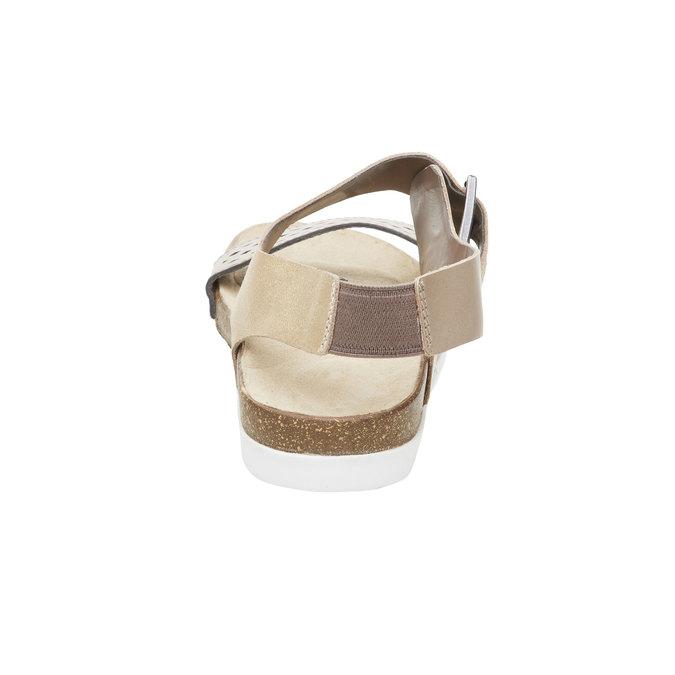 Dámské kožené sandály rockport, žlutá, 566-8104 - 17