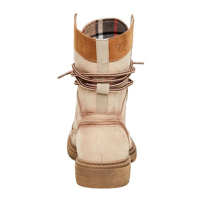 Kožené kotníčkové boty s výraznou podešví weinbrenner, béžová, 596-8170 - 17