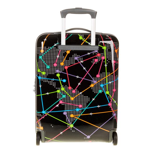 Skořepinový kufr s barevným potiskem american-tourister, černá, 960-6105 - 26