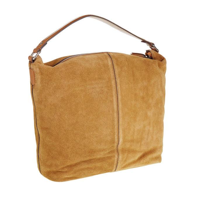 Kožená kabelka v Hobo stylu bata, hnědá, 963-3129 - 13