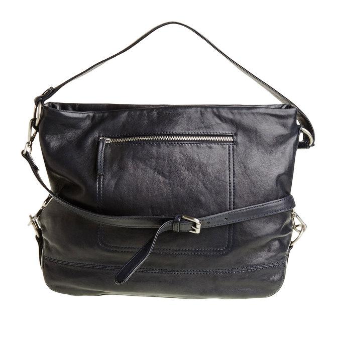 Kožená kabelka s popruhem bata, modrá, 964-9187 - 26