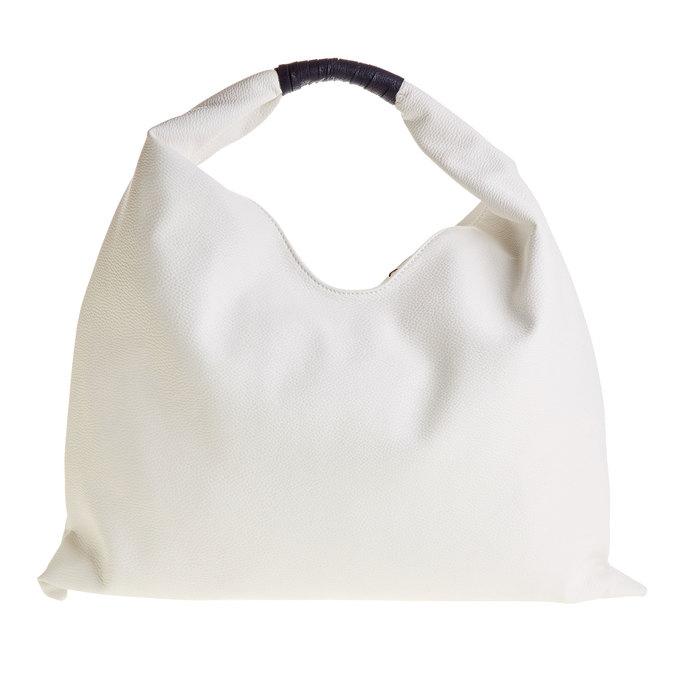 Dámská bílá kabelka typu Hobo cafe-noir, bílá, 961-1010 - 26