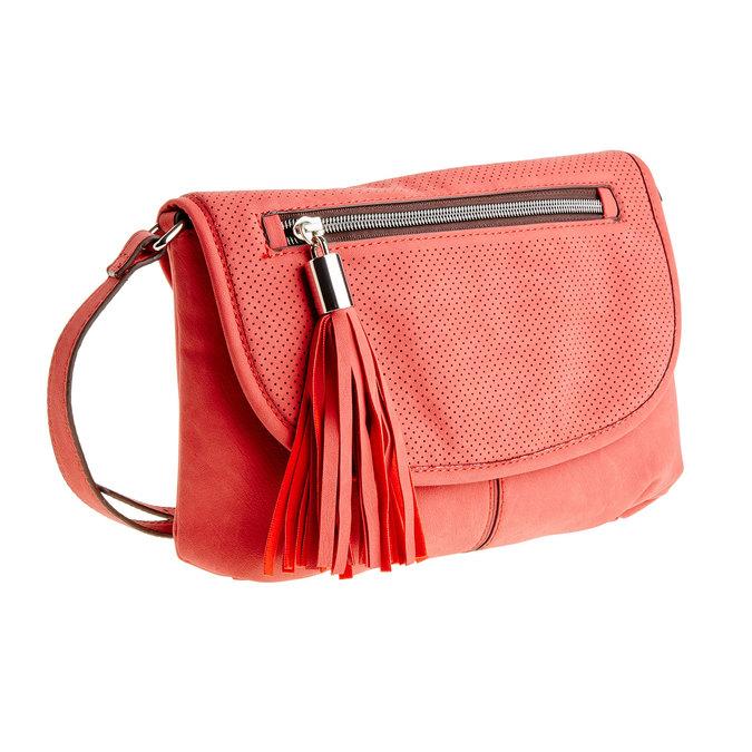 Crossbody kabelka se střapcem bata, červená, 961-5759 - 13