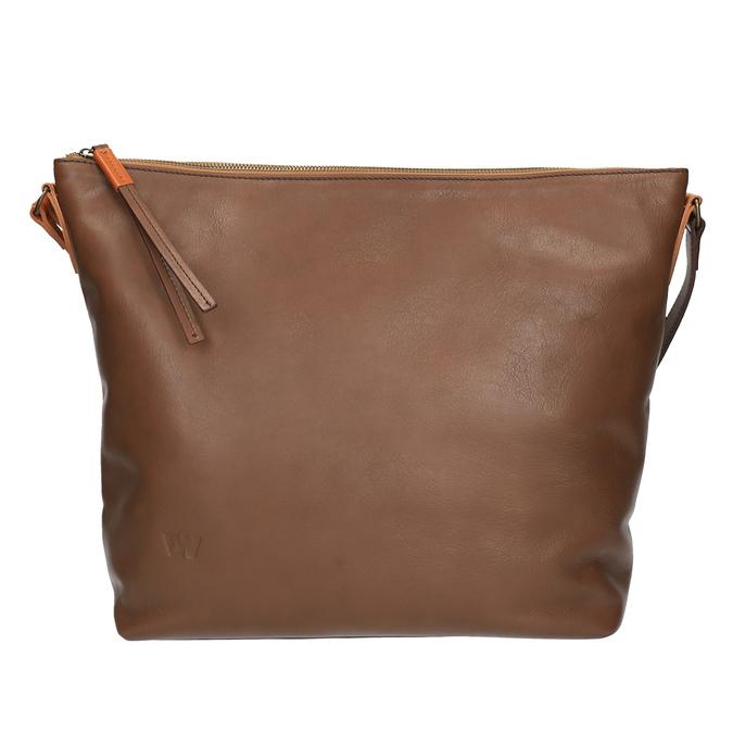 Kožená Crossbody kabelka weinbrenner, hnědá, 964-4201 - 26