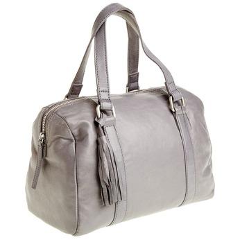 Kožená kabelka se střapcem bata, šedá, 964-2190 - 13