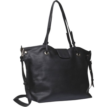 Dámská kabelka v Tote stylu bata, černá, 961-6365 - 13