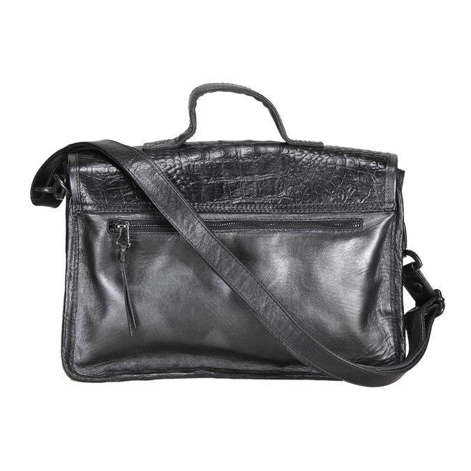 Kožená kabelka ve stylu aktovky mjus, černá, 966-6003 - 26