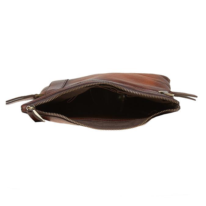 Pánská kožená Crossbody taška bata, hnědá, 964-4138 - 15