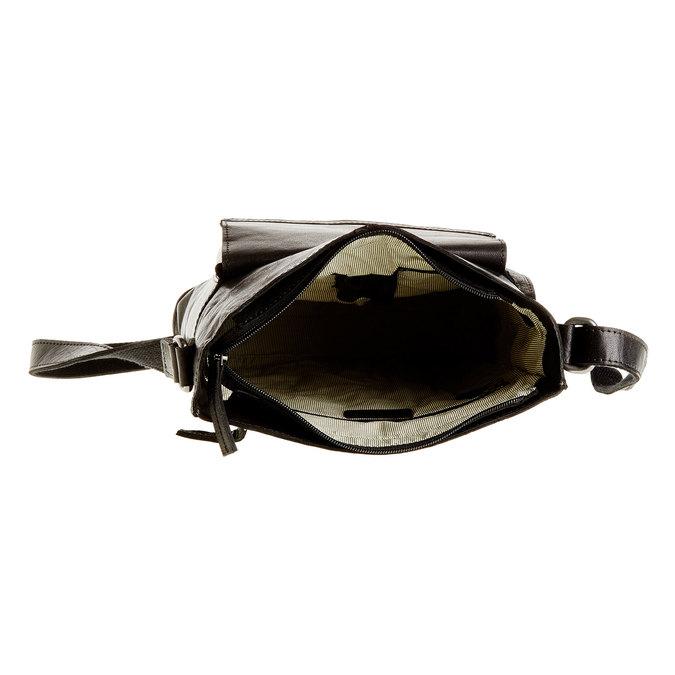 Pánská kožená  Crossbody taška bata, černá, 964-6141 - 15