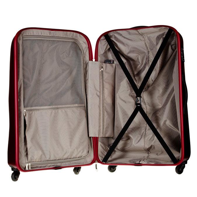 Skořepinový kufr na kolečkách carlton, červená, 960-5103 - 15