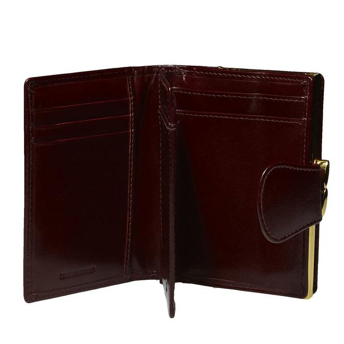Kožená dámská peněženka bata, červená, 944-5116 - 15
