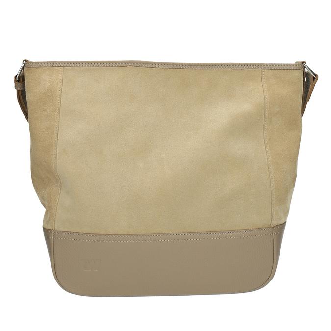 Kožená kabelka s nastavitelným popruhem weinbrenner, béžová, 963-8190 - 19