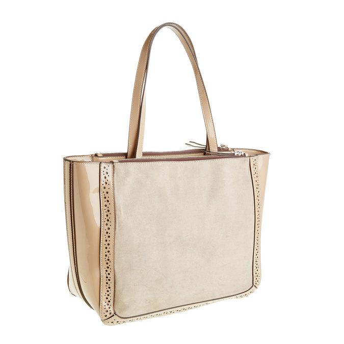Dámská kabelka s lesklými prvky bata, béžová, 969-8315 - 13