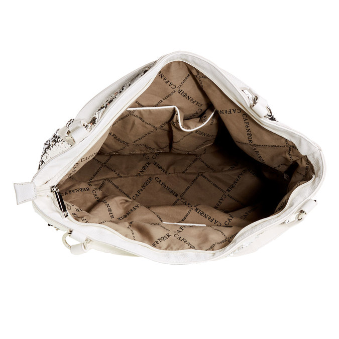 Dámská kabelka typu Tote Bag cafe-noir, bílá, 961-1011 - 15