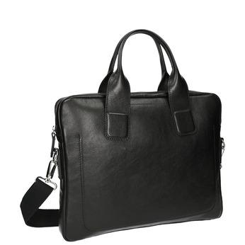 Pánská kožená brašna bata, černá, 964-6202 - 13