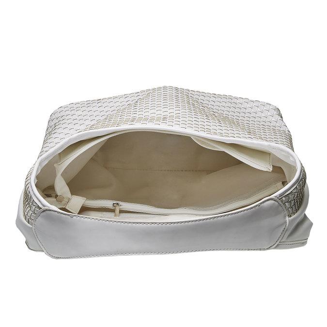 Hobo kabelka v pleteném designu bata, bílá, 961-1786 - 15