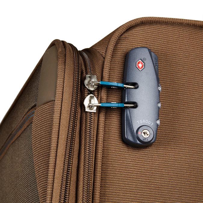 Textilní cestovní kufr na kolečkách samsonite, hnědá, 969-3343 - 17