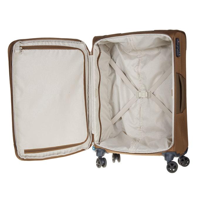 Textilní cestovní kufr na kolečkách samsonite, hnědá, 969-3342 - 15