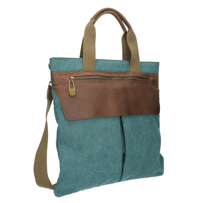 Textilní kabelka s popruhem weinbrenner, tyrkysová, 969-9621 - 13