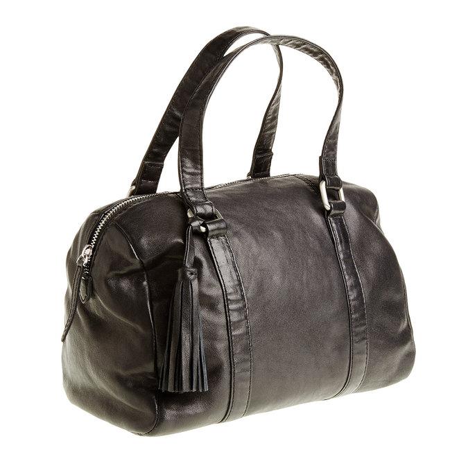 Kožená kabelka se střapcem bata, černá, 964-6190 - 13