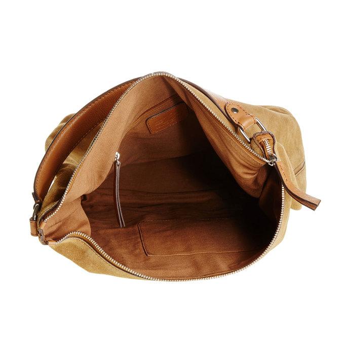 Kožená kabelka v Hobo stylu bata, hnědá, 963-3129 - 15