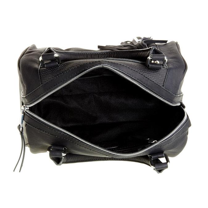 Kabelka v Bowling stylu se střapcem bata, černá, 961-6761 - 15