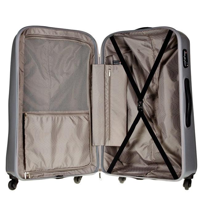 Skořepinový kufr na kolečkách carlton, šedá, 960-2103 - 15