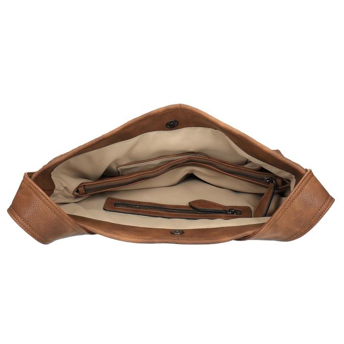 Prostorná kabelka s dlouhým uchem bata, hnědá, 961-3600 - 15