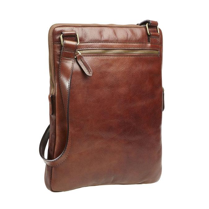 Kožená crossbody taška elega, hnědá, 964-4165 - 13