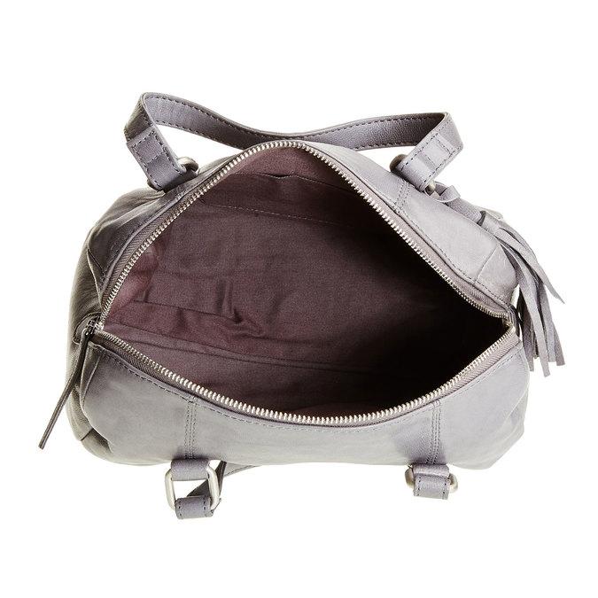 Kožená kabelka se střapcem bata, šedá, 964-2190 - 15