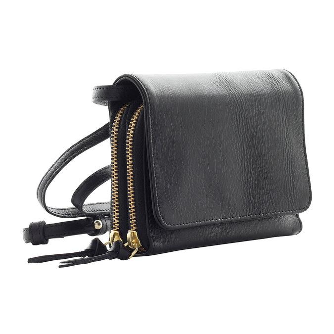 Kožená Crossbody kabelka royal-republiq, černá, 964-6191 - 13