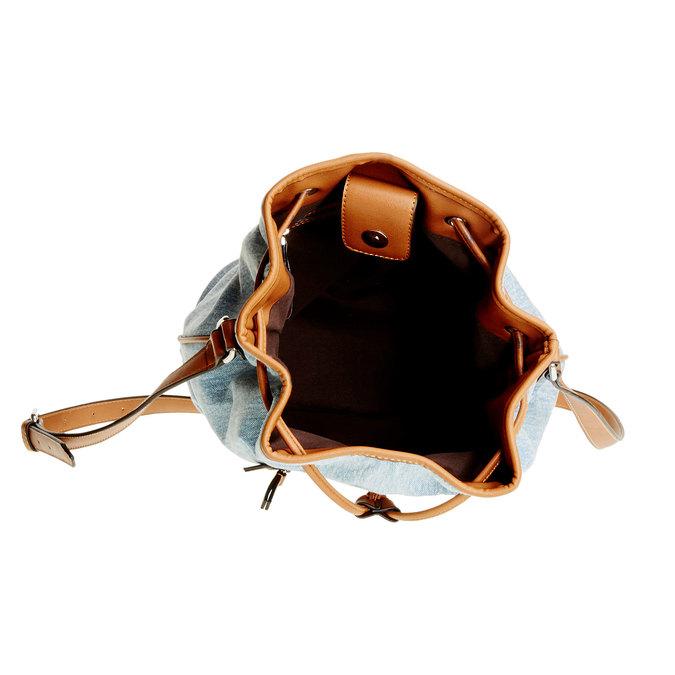 Kabelka v Bucket stylu bata, modrá, 969-9403 - 15