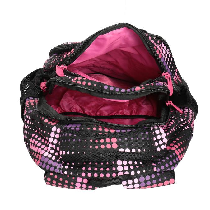 Dívčí školní batoh s puntíky bagmaster, růžová, 969-5601 - 17