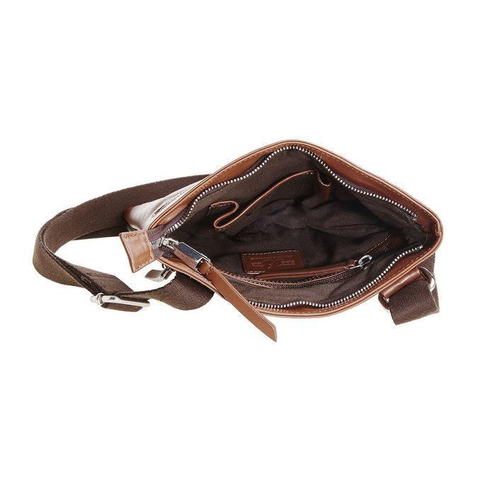 Pánská kožená Crossbody taška bata, hnědá, 964-4184 - 15