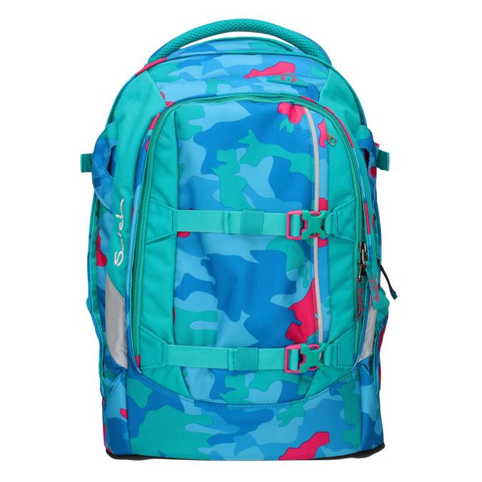 Barevný školní batoh satch, tyrkysová, 969-9087 - 19