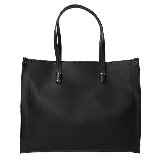 Hranatá kabelka v Shopper stylu bata, černá, 961-6736 - 19