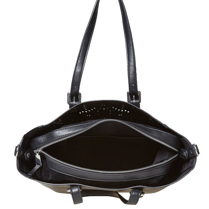 Kabelka v Shopping stylu bata, černá, 961-6799 - 15