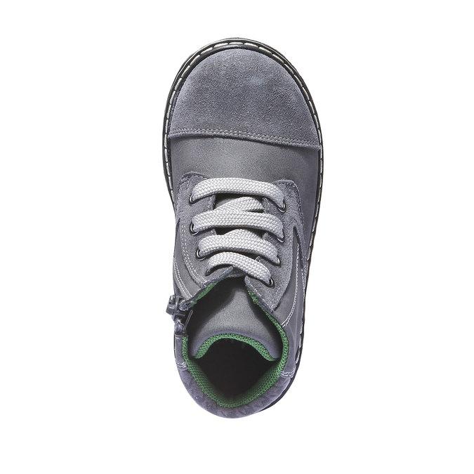 Kožené kotníčkové boty mini-b, šedá, 211-2138 - 19