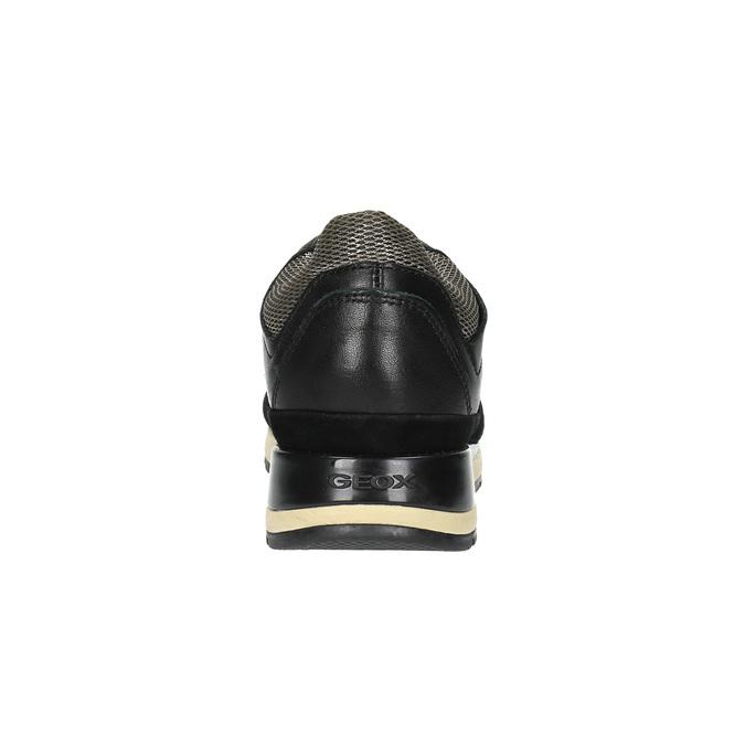 Černé kožené tenisky dámské geox, černá, 626-6030 - 17
