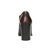 Kožené polobotky na širokém podpatku bata, hnědá, 794-4636 - 17