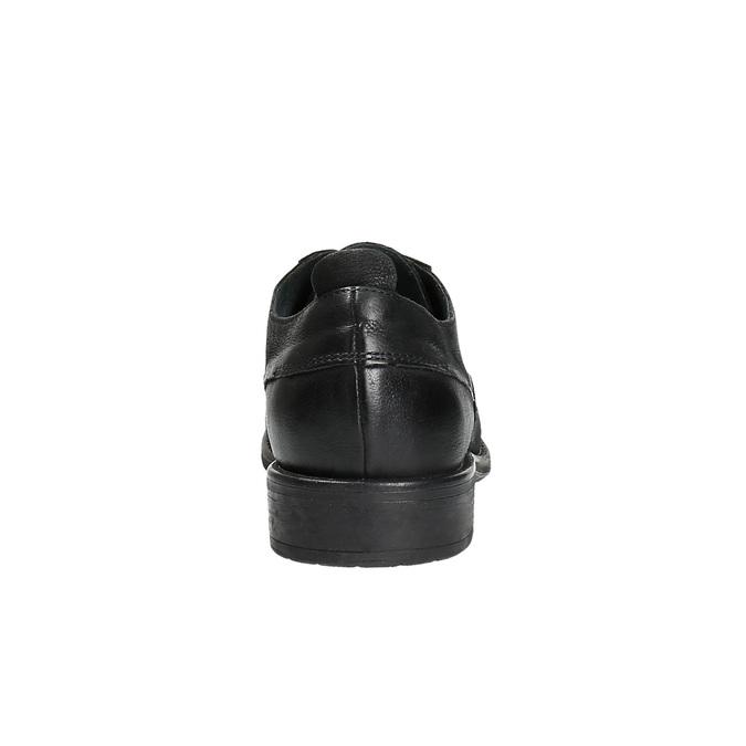 Kožené polobotky v ležérním designu bata, černá, 826-6732 - 17