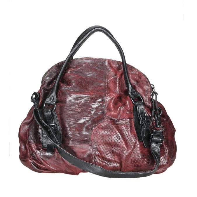 Dámská kožená kabelka a-s-98, červená, 966-5005 - 26