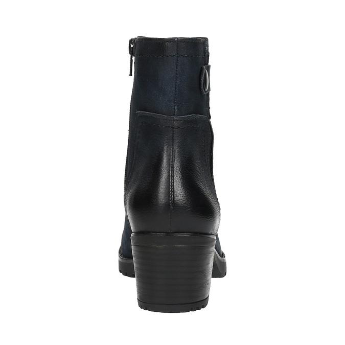 Dámská kotníčková obuv bata, modrá, 696-9603 - 17