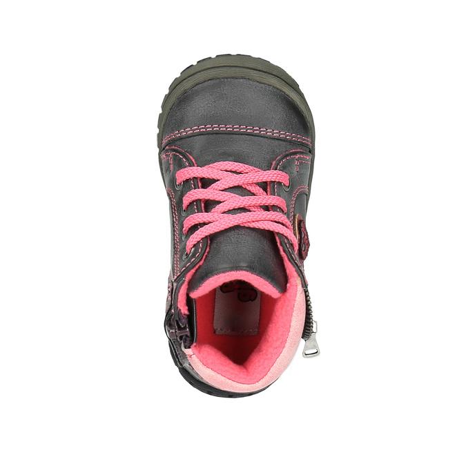 Dětská kotníčková obuv bubblegummer, šedá, 121-2611 - 19